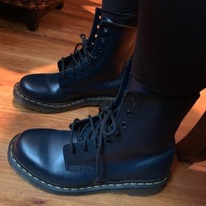 Dr. Martens Blue Leather Boots